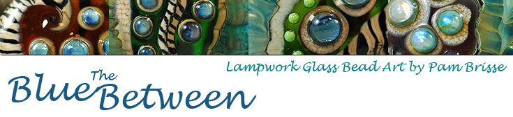 The Blue Between - Handmade Lampwork Glass Beads